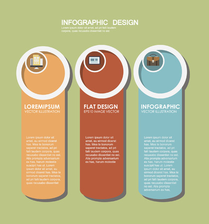 Infographic elements in modern fashion: flat style. Infographic elements 向量圖像
