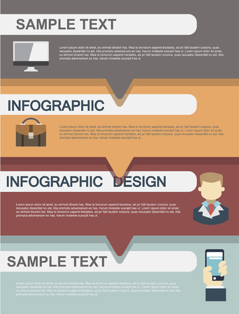 Modern Design Minimal infographic template - can be used for infographics , numbered banners , horizontal cutout lines , graphic or website. Vector 向量圖像