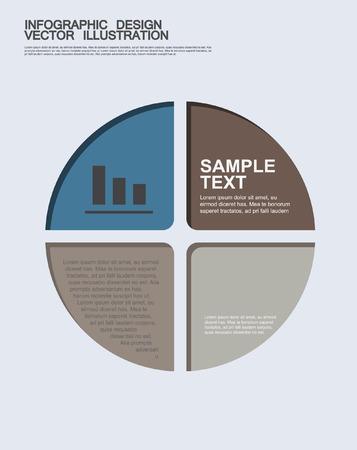 infographic element template for presentation. Minimal infographics design