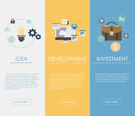 strategic management: Flat design concepts for business, finance, strategic management, investment, natural resources, consulting, teamwork, great idea. Concepts for web banners and promotional materials.