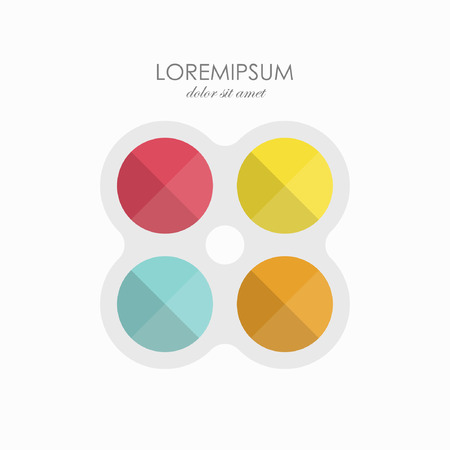 Color sign icon template. abstract symbols in flat design