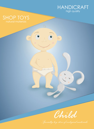 Card with the baby. baby pictures for printing. greeting card with a baby 向量圖像