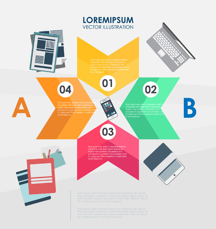 Background for business. label number options banner. Vector illustration. can be used for workflow layout, diagram, step options, web design, infographics. 向量圖像