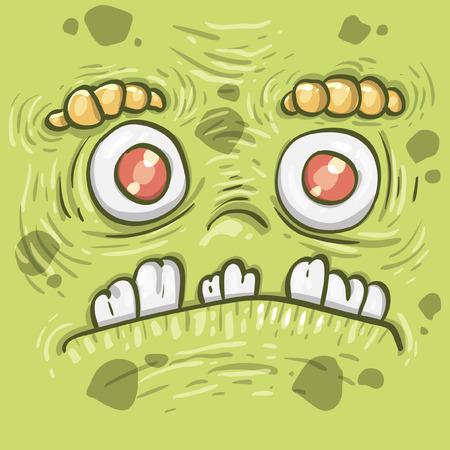 Cartoon funny monster. Cartoon cute monster shows tongue. Vector. Sticker. Cartoon character. Vector