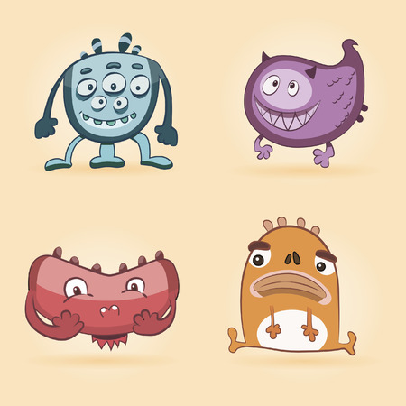 fanny: Set monsters for print. Set funny monsters. Fanny monster. Cartoon cute monsters. Ridiculous small monsters (cute)