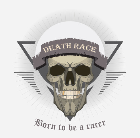 grunge print for t-shirt skull. skull vector print 版權商用圖片 - 38363987