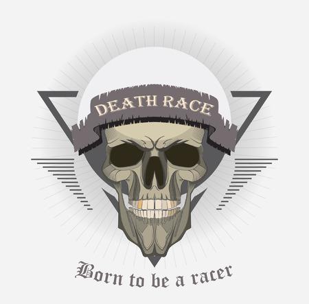 grunge print for t-shirt skull. skull vector print