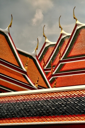 Thai temple rooftop
