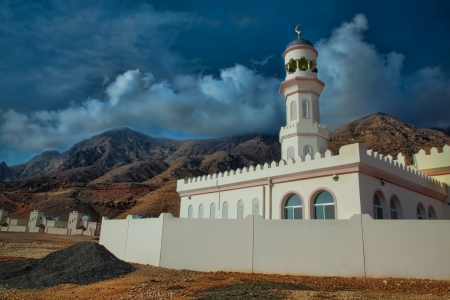 Mosque in mountains - Oman
