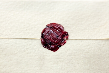 Classical seal on a piece of paper  Stock Photo