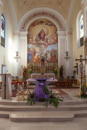 Catholic Church Indoors, Stara Cerkev, Slovenia Editorial