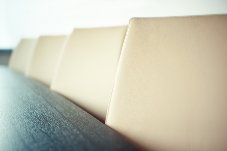 conference room table: Chairs in conference room - close up and shallow depth of field