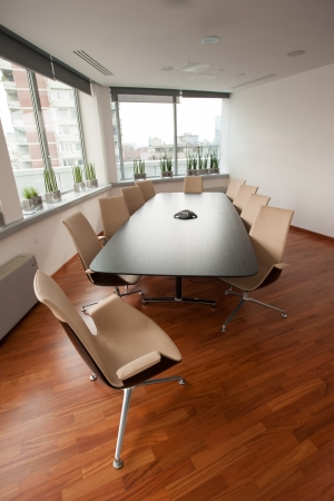 Modern bright meeting room, office