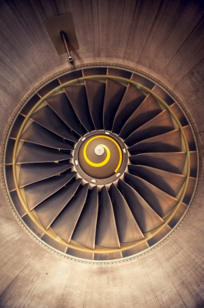Turbo-jet engine of the plane, abstract photo