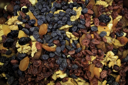 Mixed dried fruit in Istanbul market. photo