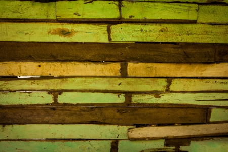 Green Old Wood - Background Stock Photo