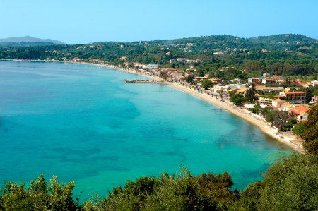 kerkyra: Beach in front of Ipsos, Corfu, Kerkyra