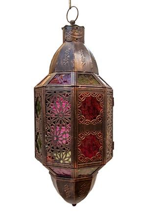 Islamic light isolated on a white background Stock Photo