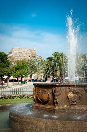 kerkyra: Fountain in center of Corfu city (Kerkyra)