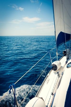 Yacht Sailing Sailboat  Yachting  Sailing  Travel Concept  Vacation