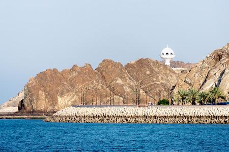 Riyam Monument, giant incense burner, in Mutrah, Muscat, Oman, Middle East
