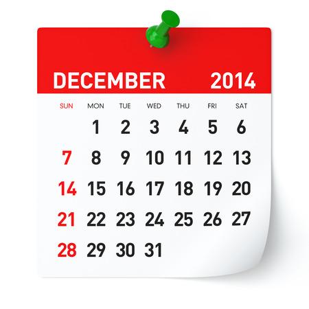 December 2014 - Calendar photo