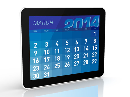 March 2014 - Tablet Calendar photo