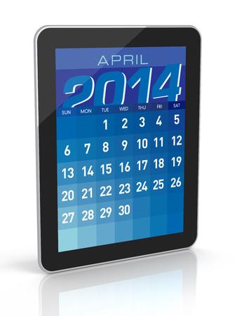 April 2014 - Tablet Calendar photo
