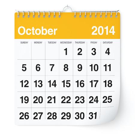 October 2014 - Calendar photo