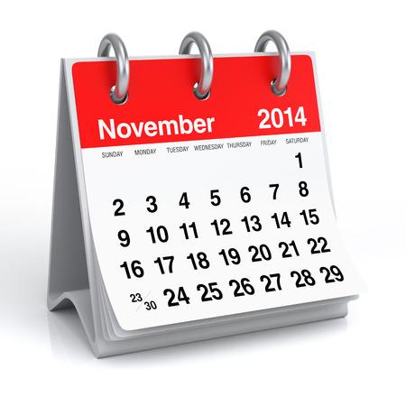 november 3d: November 2014 - Calendar
