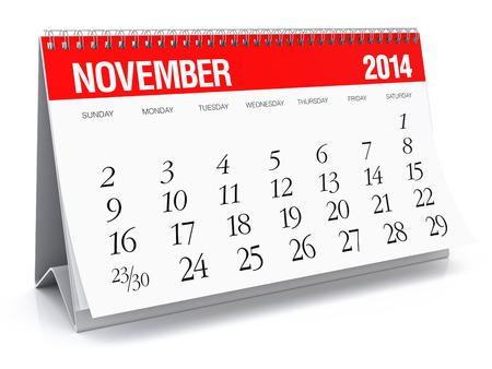 November 2014 - Calendar Stock Photo - 29906113