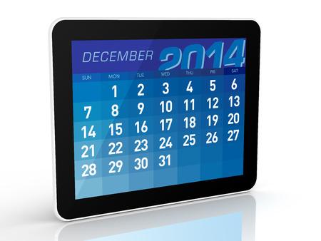 december: December 2014 - Tablet Calendar