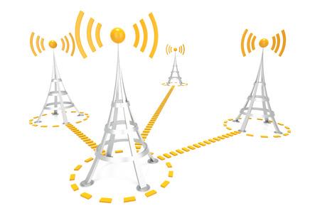 telecommunications equipment: Wifi Network Stock Photo