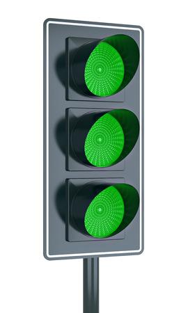 All green traffic light photo
