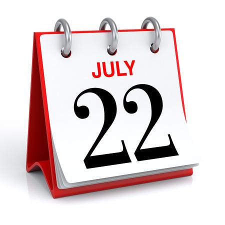 July Calendar Stock Photo - 30025554
