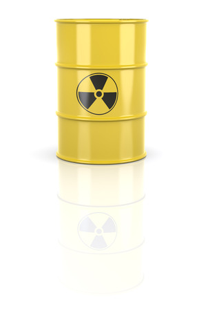 barrel bomb: Radioactive Barrel Stock Photo