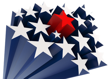 political rally: The American Star Stock Photo