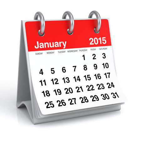 January 2015 - Calendar Stock Photo - 30389265