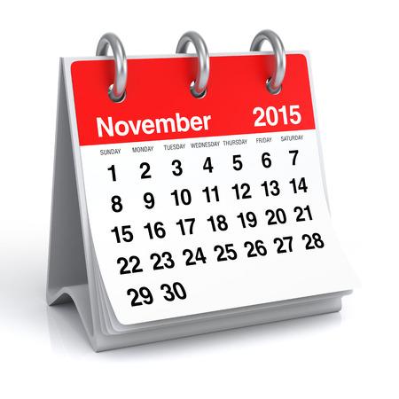 November 2015 - Calendar Stock Photo - 30389290