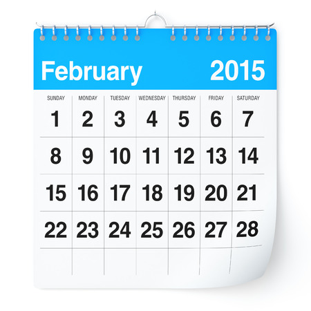 February 2015 - Calendar Stock Photo - 30389303