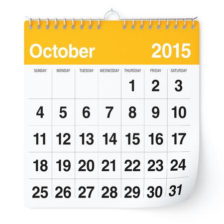 Oktober 2015 - Kalender
