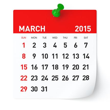 Maart 2015 - Kalender