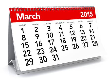 March 2015 - Calendar Stock Photo - 30663075