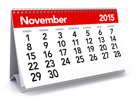 november 3d: November 2015 - Calendar