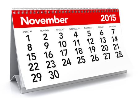 November 2015 - Calendar