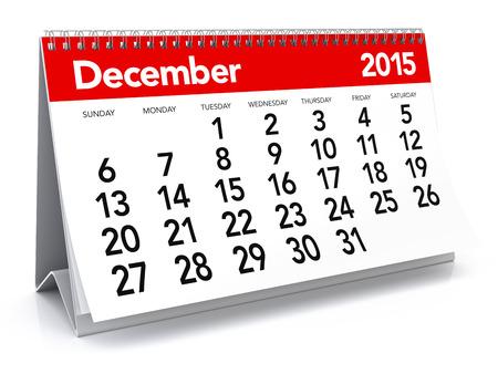 calendario diciembre: 12 2015 - Calendario