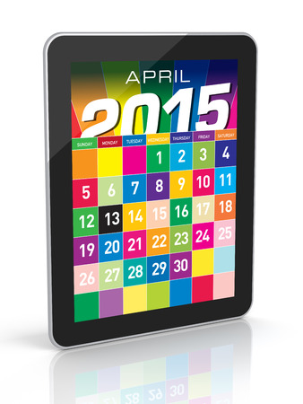 2015 Calendar  Isolated on White Background  3D Rendering photo