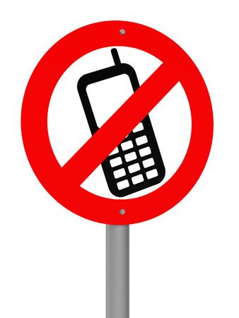 Geen mobiele telefoons toegestaan