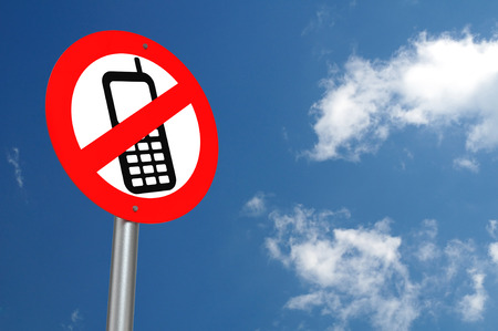 No Mobile Phones Allowed Stock Photo