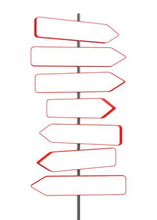 digitally generated image: Blank signpost  Digitally Generated Image  3D Rendering Stock Photo